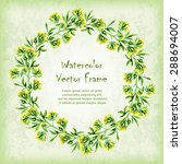vector round frame with... | Shutterstock .eps vector #288694007