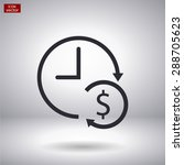 time is money . line vector icon | Shutterstock .eps vector #288705623