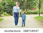 young mother and her cute... | Shutterstock . vector #288718547
