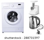 clothes washer  appliance ... | Shutterstock . vector #288731597