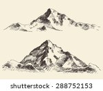 mountains sketch  hand drawn... | Shutterstock .eps vector #288752153