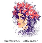 background with a portrait of ... | Shutterstock . vector #288756107
