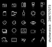 camera line icons with reflect... | Shutterstock .eps vector #288757073