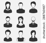 illustration set business... | Shutterstock . vector #288760487