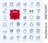thin lines web icon set  ... | Shutterstock .eps vector #288762287