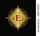 monogram design elements ... | Shutterstock .eps vector #288764027