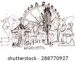 luna park. illustration. | Shutterstock . vector #288770927