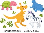 Set Of Vector Animals Isolated...