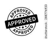 approved stamp  label  sticker... | Shutterstock .eps vector #288776933