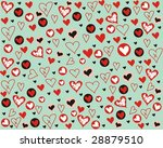 background with funny heart | Shutterstock . vector #28879510