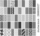 50 black and white geometric... | Shutterstock .eps vector #288800327