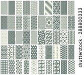 50 geometric seamless pattern... | Shutterstock .eps vector #288800333