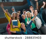 happy students group  study in... | Shutterstock . vector #288835403