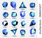 blue diamond polygon triangle... | Shutterstock .eps vector #288842657