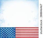 us american flag themed... | Shutterstock .eps vector #288846467
