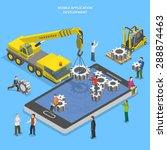 mobile app development flat... | Shutterstock .eps vector #288874463