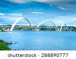 Jk Bridge In Brasilia  Brazil