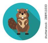 beaver in vector format   Shutterstock .eps vector #288911033