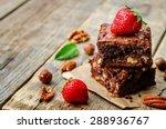 Chocolate Nut Brownie Cake...