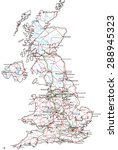united kingdom road and highway ... | Shutterstock .eps vector #288945323