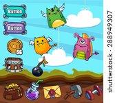 game cartoon   monster... | Shutterstock .eps vector #288949307