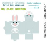 favor box rabbit bunny design... | Shutterstock .eps vector #288958487