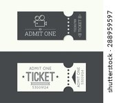 entry ticket to old vintage... | Shutterstock .eps vector #288959597