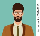 flat hipster character. stylish ... | Shutterstock .eps vector #288962213