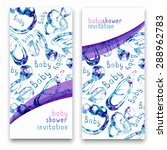 watercolor vector invitations... | Shutterstock .eps vector #288962783