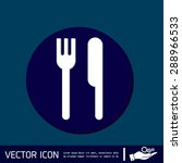 fork and knife sign. symbol...   Shutterstock .eps vector #288966533