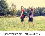 young couple on the walk in... | Shutterstock . vector #288968747