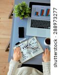 businessman  devices  digital...   Shutterstock . vector #288973277