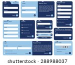 editable web form with trendy... | Shutterstock .eps vector #288988037