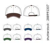 cap template. front and back... | Shutterstock .eps vector #288991337