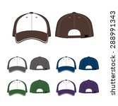 cap template. front and back... | Shutterstock .eps vector #288991343