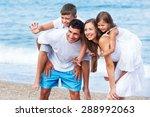 beach  fun  holidays.   Shutterstock . vector #288992063