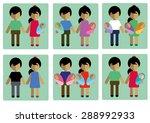 family set vector | Shutterstock .eps vector #288992933