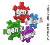 generation x y z  millennials...   Shutterstock . vector #288993017