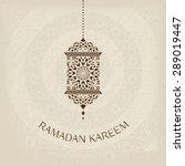 ramadan kareem greeting card in ... | Shutterstock .eps vector #289019447
