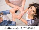 addicted people having good... | Shutterstock . vector #289041647