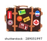 travel suitcase isolated on... | Shutterstock . vector #289051997