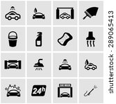 vector black car wash icon set | Shutterstock .eps vector #289065413