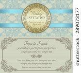 antique baroque wedding... | Shutterstock .eps vector #289073177