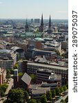 hamburg rathaus and city scape  ... | Shutterstock . vector #289075037