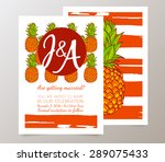 save the date  wedding... | Shutterstock .eps vector #289075433