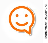 happy smile   face chat speech... | Shutterstock .eps vector #289084973