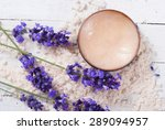 cosmetic cream and lavender on... | Shutterstock . vector #289094957