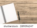 recycle notebook with pen on... | Shutterstock . vector #289096247