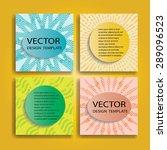 abstract brochure design .... | Shutterstock .eps vector #289096523