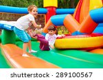 happy kids having fun on... | Shutterstock . vector #289100567